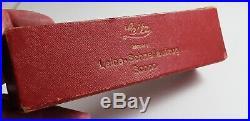 1930's LEITZ LEICA SCNOO RAPID WINDER, CHROME, in ORIGINAL RED BOX +INSTRUCTIONS