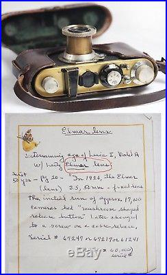 1931 LEICA I (Model A) + ELMAR 5cm f/3.5 LENS, BAKELITE CAP, CASE, BROCHURES, NR