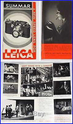 1934 LUTZ FERRANDO LEICA III withBLACK-RIM SUMMAR 5cm (Non-Std.) + ETNEU CASE NR