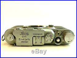 1936 Camera Leica Iiia And Cap. D. R. P. Ernst Leitz Wetzlar Rangefinder Pre-war