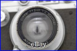 1936 Leica IIIA camera with Leitz Summar F=5cm 12 lens and case