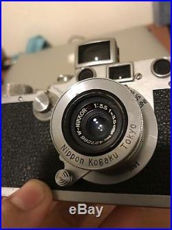 1942 Leica IIIc Rangefinder with 35mm nikkor kit