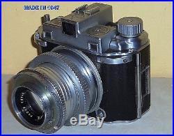 1947 Kodak MEDALIST II Ektar 3.5 coated 100mm lens Rangefinder camera as is