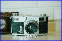 1950! Kiev 2 35mm Film Camera + Jupiter 8 Red P Lens 2/50mm Contax 2 Copy