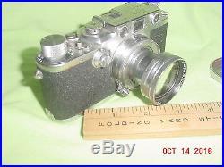1950 Leica IIIc Rangefinder 495595 Ernst Leitz Wetzlar Germany Summitar f 50mm