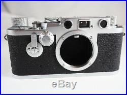 1953 Leica IIIf RED DIAL DELAYED ACTION + 5cm ELMAR, FIKUS HOOD, CASE & RED BOX