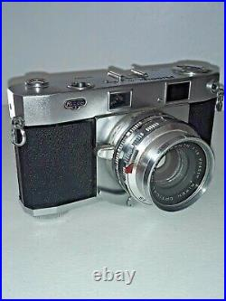 1958 Ricoh 519 DELUXE 35mm Rangefinder Film Camera 45mm f1.9 Rikenon Lens