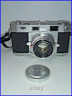 1958 Ricoh 519 DELUXE 35mm Rangefinder Film Camera 45mm f1.9 Rikenon Lens Cover