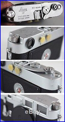 1959 LEICA M3 Single Stroke +'57 9cm ELMAR, nr. MINT, CLA'd, withRED BOX+CASES+LIT