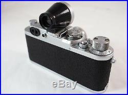 49 SHARKSKIN LEICA IIIf BLACK DIAL +'35 5cm SUMMAR +METAL 35mm KMZ FINDER +LIT