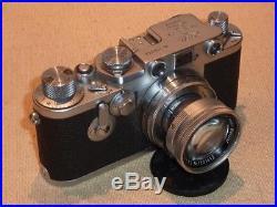 Analoge Kamera Leica III Nr. 716553 mit Leitz Summicron f=5 cm 12 50er Jahre