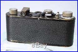 BLACK PAINT LEICA I BODY #25360 With LEITZ ELMAR 50MM F/3.5 LENS NICKEL