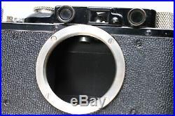 BLACK PAINT LEICA II 35MM RANGEFINDER CAMERA With NICKEL ELMAR 50MM F/3.5 LENS