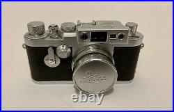 Beautiful Leitz Leica IIIg Camera with Summicron 5cm f2.0 in Mint Condition