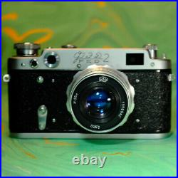Boxed Soviet FED 2 Rangefinder Camera Outfit F/2.8 52mm Lens! Lomo Retro Tested