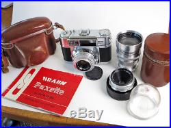 Braun Paxette Super llBL Camera and Three Lens Set Complete, Beautiful