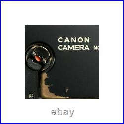 CANON P RF CAMERA LTM L39 REPAINTED MATTE BLACK With VINTAGE OLD BRASSING / CLA'd