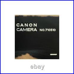 CANON P RF FILM CAMERA LTM L39 REPAINTING MATTE BLACK VINTAGE BRASSING / CLA'd