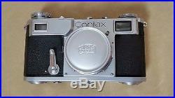 CONTAX II 35mm camera Carl Zeiss Jenna Sonnar 1.2 50mm lens Ikon rangefinder