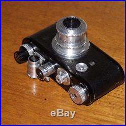 CORFIELD Periflex camera BLACK 50mm f3.5 LUMAX lens Leica screw 1953