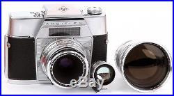 Camera Agfa Amiflex Lens Agfa Color Solinar 2.8/50mm Telinar 4/130mm