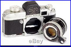 Camera Alpa Alnea Mod 5 Lens Kern Macro Switar 1.8/50mm AR