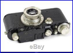 Camera Leica IIIf Black Paint Lens Elmar 3.5/5cm Nickel