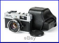 Camera Minolta Hi-Matic 7s II Rangefinder Lens Rokkor 1.7/40mm Mint