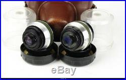 Camera Werra 4 Green RF With Zeiss Flektogon 35mm Tessar 50mm Cardinar 100 Mint