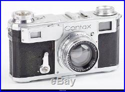 Camera Zeiss Ikon Contax II Lens Zeiss Sonnar 2/5cm EX Box