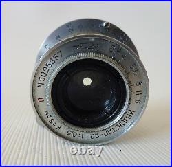 Camera Zorki-1 Rare KMZ 1955 Soviet Rangefinder+Industar-22 Lens & Case# 5511365
