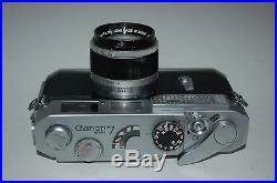 Canon-7 Vintage Japanese Rangefinder Camera & Lens. Serviced. 805383. UK Sale