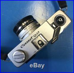 Canon Canonet QL17 Vintage 35mm Rangefinder Camera Excellent-Plus