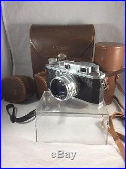 Canon IVF Rangefinder Camera BUNDLE 6 Lenses, Flash Unit, Case, And More
