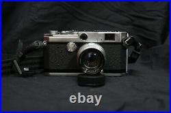 Canon L1 Leica Screw Mount 35mm film rangefinder with 50mm f/1.8 LTM lens CLA'd
