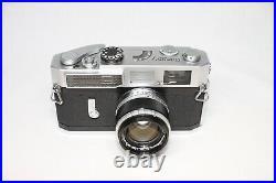 Canon Model 7 Leica Screw Mount Rangefinder Camera Body 50mm F/1.8 Camera Case