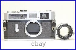 Canon Model 7 Leica Screw Mount Rangefinder Camera Body 50mm F/1.8 Lens Japan
