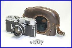Canon Model P Populaire Rangefinder Body 50mm F/1.8 Lens Japan