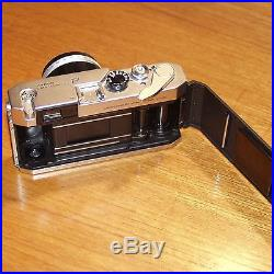 Canon P 35mm film rangefinder camera with f1.4 50mm lens meter & case