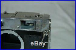 Canon-P Vintage 1958 Japanese Rangefinder Camera. Service. No. 710239. UK Sale