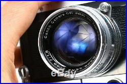 Canon Vt 35mm Film Rangefinder Camera Ltm #514042 + Serenar 50mm F/1.8 Lens