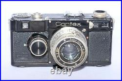 Classic Zeiss Contax I 35mm rangefinder camera with 5cm f2.8 Tessar lens & Hood
