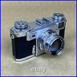 Contax II 35mm Rangefinder Film Camera With Sonnar 50mm F2 & Case READ