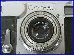 Contax II Nr. K. 56406 mit Zeiss Tessar 3,5/50 T 13,5 f = 5cm funktionsf working