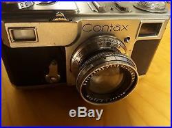 Contax II Vintage 35mm Rangefinder Camera CARL ZEISS 5cm F2 Lens