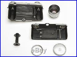 Contax IIa 35mm Rangefinder Camera Zeiss-Opton Sonnar f/1.5 50mm Lens