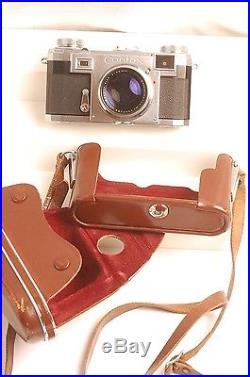 Contax Iia Rf Camera 50mm F1.5 Zeiss Sonnar Case Strap