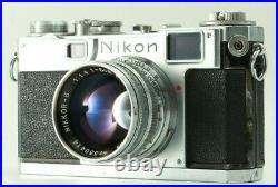 EXC Nikon S2 Vintage Rangefinder Camera + Nikkor S. C 50mm f/1.4 from Japan