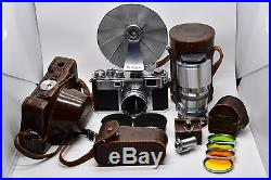 EXCELLENT COND Nikon S2 rangefinder camera with 2 lenses and accessories