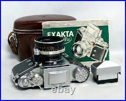 Exakta VX IIa Carl Zeiss Jena Tessar 50mm 12.8 35mm Film Camera Lens Vintage